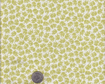 Little Elephants in Lime - Michael Miller cotton quilt fabric - half yard