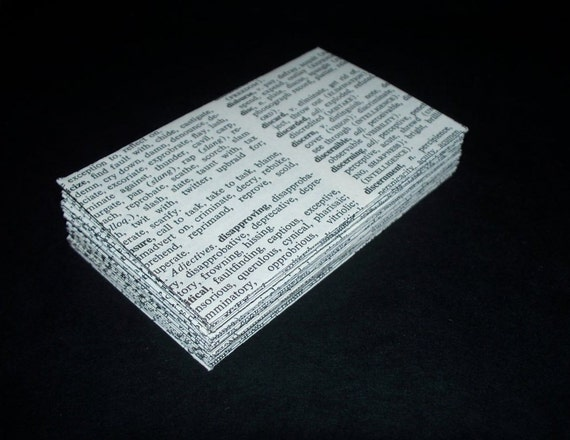 Thesaurus- 24 Mini (Business Card Size) Envelopes- Recycled -Gift Enclosure -Thank You. Last Set