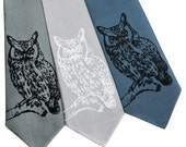 Wizened Old Owl Silk Tie