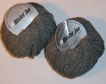 2 skeins Yarn Wool Polyester Acrylic Gray