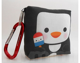 Toy Keychain - Toy Penguin, Animal Pillow, Kawaii Toy, Backpack Charm, Kids Toys, Party Favor, Stocking Stuffer, Holiday Gift