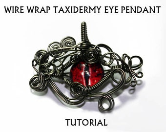 Jewelry Tutorial - .PDF Format - Wire Wrap Taxidermy Glass Eye Pendant Instructional Lesson