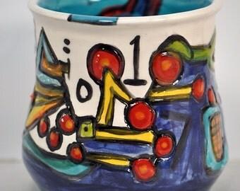 Numbers tumbler or teacup