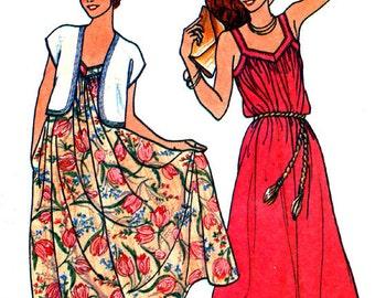 BUTTERICK 6523 Misses Shrug & Dress Size 10