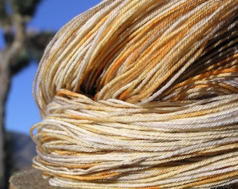 Fingering Weight Yarn - BFL Wool (Blue Faced Leicester) and Nylon- Leopard Lizard