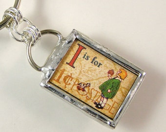 I is for Ice Cream Keychain