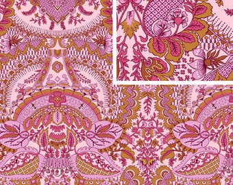 Amy Butler Fabric /  Alchemy Collection /  Floral in Rosebud - 1 Yd Quilt Apparel Fabric