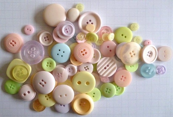 PASTEL buttons x100g