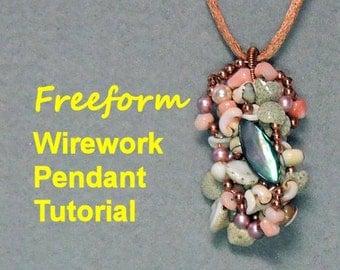 Freeform Wirework Pendant Tutorial Ebook