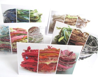 Single yarn card, knitting card, fiber art, textiles, knitters greetings card, wool card, individual blank card