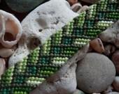 GREEN CRYSTAL friendship bracelet