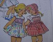 vintage Simplicity 5532 Size 1 toddler Dress & Bonnet Pattern