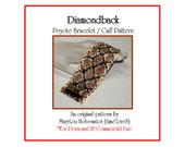Peyote Bracelet Pattern ... DIAMONDBACK ... Snakeskin . Diamonds . Snake . Rattlesnake . Wide . Cuff . Jewelry . Tutorial  . 3 for 2