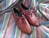 Jeffrey Campbell Wingtip Leather Brogues / Women's Size 8 / Like new