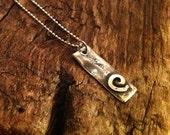 Evolve - Silver Spiral Pendant Necklace