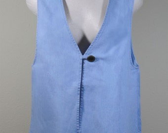 Vest Light Blue Denim Size Small Sunbelt