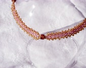 Sari's Bead Woven Anklet Reserved