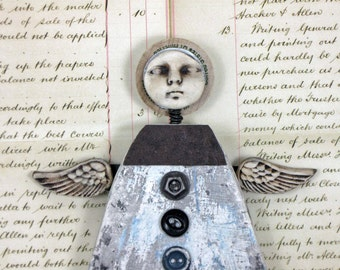 Original Mixed Media Homestead Angel