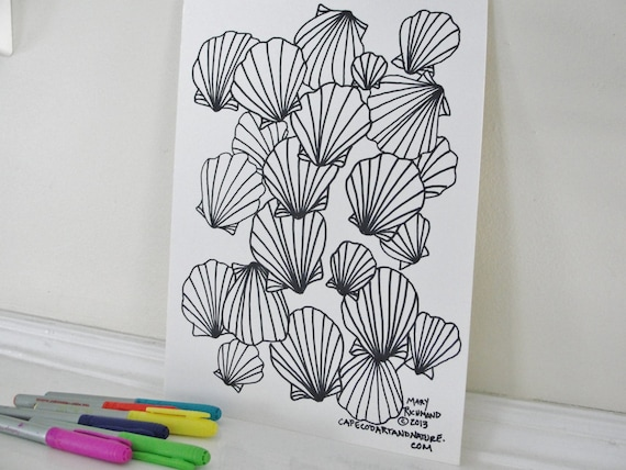 Printable Coloring Page Seashore