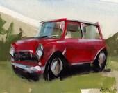 Art Print Car Mini Cooper Automotive Geekery - Mini by David Lloyd