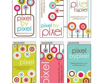 Business Cards  Custom Business Cards  Personalized Business Cards  Business Card Template  Modern Business Cards  Polka Dots Business Cards