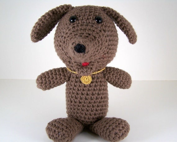 Amigurumi Stuffing : Crochet Amigurumi Stuffed Dog Plush Doug the Brown