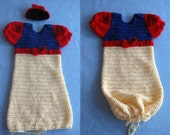 Snow White Inspired Sweet Pea Baby Outfit Crochet Pattern