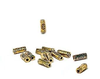 Golden Sunburst- spacer bead