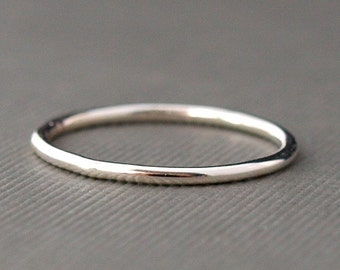 Plain Silver Ring  , Simple Ring , Sterling Silver Band , Single Smooth Ring
