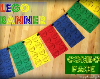 PDF: Combo Pack - Small, Medium and Large Toy Brick Pattern Templates - Printable