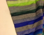 Jersey Knit Multi Color  Stripe Fabric 5/8 Yard Remnant
