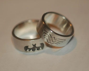 WONDER WOMAN Sterling Silver Ring