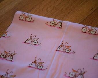 Heather Ross Pink Bikes Fabric 1 yard