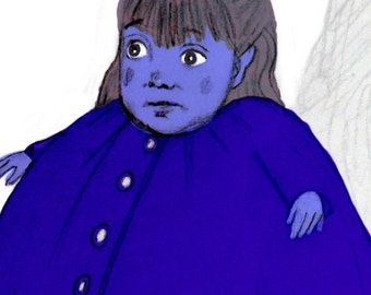 Ode to Violet ... Charlie and the Chocolate Factory inspired ... limited edition print