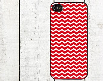 iphone 6 case Red Chevron Cell Phone Case - Pattern iPhone 4 Case - Cell Phone Case - iPhone 5 Case - Valentine's Day