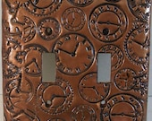 It Is Time: clocks in antique bronze double toggle light switch cover