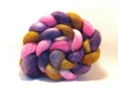 SALE - Candy Flowers - Superwash Merino top roving fiber for spinning