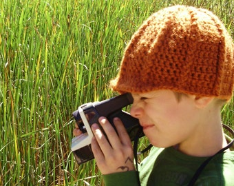 Crochet Newsboy Cap in Koi Orange for Baby / Boy / Girl / Man / Woman - Chunky Soft Crochet Hat