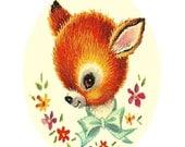 Vintage Baby Deer Cross Stitch Pattern PDF