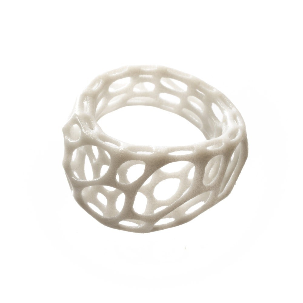 2-layer twist ring 3D printed nylon