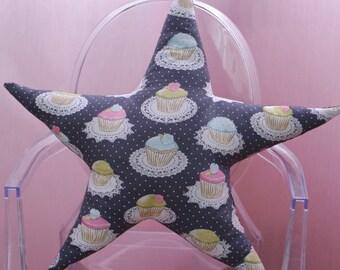 Star Pillow - Cupcakes & Stars