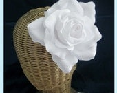 White Rose Flower Hair Clip And Brooch