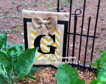 Burlap garden flag Etsy