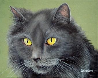 Custom order 11x14 Pet Portrait Painting Any Farm Animal Dog Cat Pony Horse