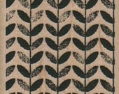 Background stamp Design/Leaves/Square    wood mounted no. 9728