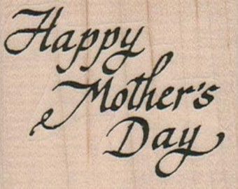 Happy Mother's Day   rubber stamps   wood mounted 9702 scrapbook supplies