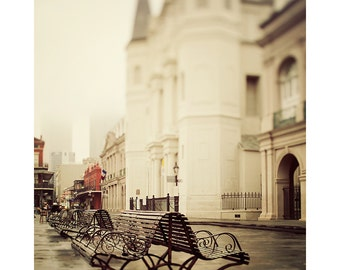 Jackson Square, New Orleans Photograph, French Quarter, New Orleans Art, Travel Photography, 8x10 Architecture Print, Fine Art