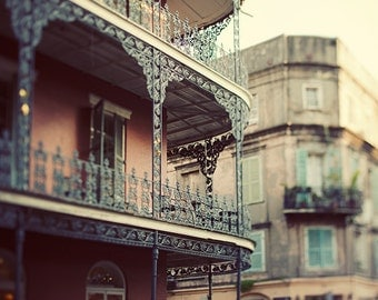 French Quarter Art, New Orleans Photography, Louisiana, Balcony, Cajun Decor, Travel Print, Brown Wall Art - Dream on Royal Street