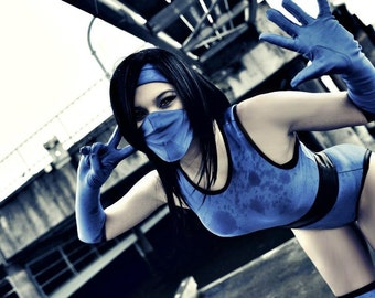 D-Jenn Halloween/Cosplay Mortal Kombat Kitana Costume Made to Order