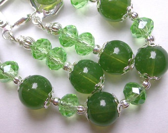 Green Bracelet and Earring Set
